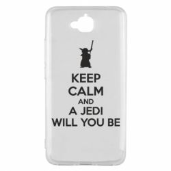Чехол для Huawei Y6 Pro KEEP CALM and Jedi will you be - FatLine