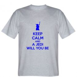 Мужская футболка KEEP CALM and Jedi will you be - FatLine