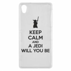 Чехол для Sony Xperia Z2 KEEP CALM and Jedi will you be - FatLine