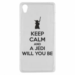 Чехол для Sony Xperia Z3 KEEP CALM and Jedi will you be - FatLine