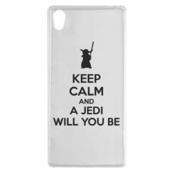 Чехол для Sony Xperia Z5 KEEP CALM and Jedi will you be - FatLine