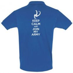 Футболка Поло KEEP CALM and JOIN MY ARMY - FatLine