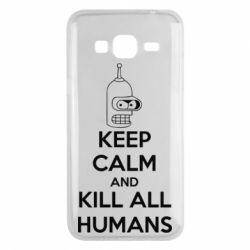 Чехол для Samsung J3 2016 KEEP CALM and KILL ALL HUMANS - FatLine
