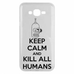 Чехол для Samsung J7 2015 KEEP CALM and KILL ALL HUMANS - FatLine