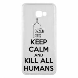 Чехол для Samsung J4 Plus 2018 KEEP CALM and KILL ALL HUMANS - FatLine