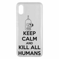 Чехол для Xiaomi Mi8 Pro KEEP CALM and KILL ALL HUMANS - FatLine