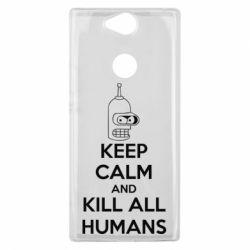Чехол для Sony Xperia XA2 Plus KEEP CALM and KILL ALL HUMANS - FatLine
