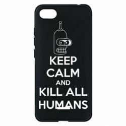 Чехол для Xiaomi Redmi 6A KEEP CALM and KILL ALL HUMANS - FatLine