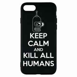 Чехол для iPhone 8 KEEP CALM and KILL ALL HUMANS - FatLine