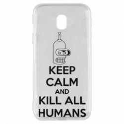 Чехол для Samsung J3 2017 KEEP CALM and KILL ALL HUMANS - FatLine