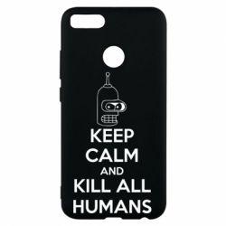 Чехол для Xiaomi Mi A1 KEEP CALM and KILL ALL HUMANS - FatLine