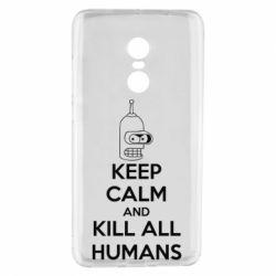 Чехол для Xiaomi Redmi Note 4 KEEP CALM and KILL ALL HUMANS - FatLine