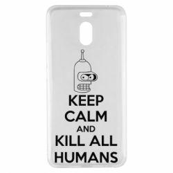 Чехол для Meizu M6 Note KEEP CALM and KILL ALL HUMANS - FatLine