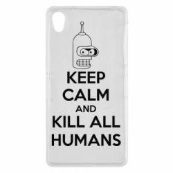 Чехол для Sony Xperia Z2 KEEP CALM and KILL ALL HUMANS - FatLine