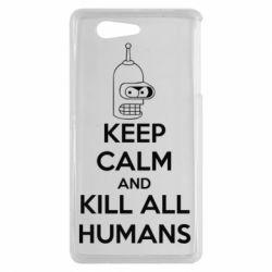 Чехол для Sony Xperia Z3 mini KEEP CALM and KILL ALL HUMANS - FatLine