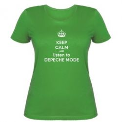 Женская футболка KEEP CALM and LISTEN to DEPECHE MODE