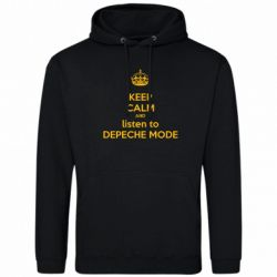 Мужская толстовка KEEP CALM and LISTEN to DEPECHE MODE
