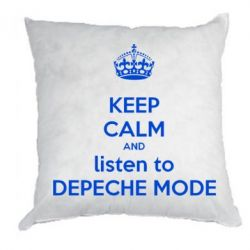 Подушка KEEP CALM and LISTEN to DEPECHE MODE