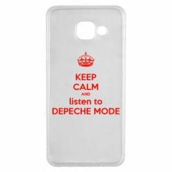 Чехол для Samsung A3 2016 KEEP CALM and LISTEN to DEPECHE MODE