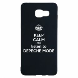 Чехол для Samsung A5 2016 KEEP CALM and LISTEN to DEPECHE MODE