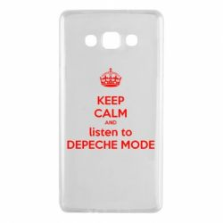 Чехол для Samsung A7 2015 KEEP CALM and LISTEN to DEPECHE MODE