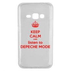 Чохол для Samsung J1 2016 KEEP CALM and LISTEN to DEPECHE MODE