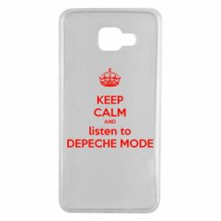 Чехол для Samsung A7 2016 KEEP CALM and LISTEN to DEPECHE MODE
