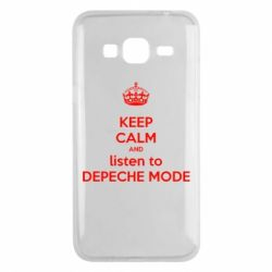 Чехол для Samsung J3 2016 KEEP CALM and LISTEN to DEPECHE MODE