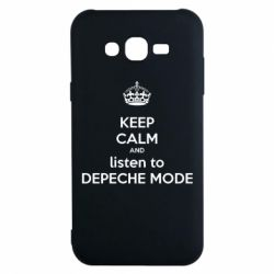 Чехол для Samsung J7 2015 KEEP CALM and LISTEN to DEPECHE MODE