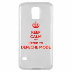 Чехол для Samsung S5 KEEP CALM and LISTEN to DEPECHE MODE