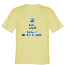 Мужская футболка KEEP CALM and LISTEN to DEPECHE MODE