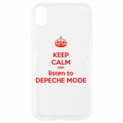 Чехол для iPhone XR KEEP CALM and LISTEN to DEPECHE MODE