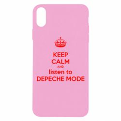 Чехол для iPhone Xs Max KEEP CALM and LISTEN to DEPECHE MODE