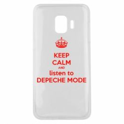 Чехол для Samsung J2 Core KEEP CALM and LISTEN to DEPECHE MODE