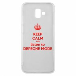 Чехол для Samsung J6 Plus 2018 KEEP CALM and LISTEN to DEPECHE MODE