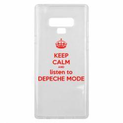 Чехол для Samsung Note 9 KEEP CALM and LISTEN to DEPECHE MODE