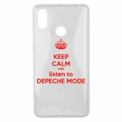 Чехол для Xiaomi Mi Max 3 KEEP CALM and LISTEN to DEPECHE MODE