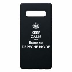 Чехол для Samsung S10+ KEEP CALM and LISTEN to DEPECHE MODE