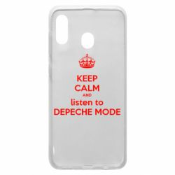 Чехол для Samsung A20 KEEP CALM and LISTEN to DEPECHE MODE
