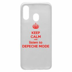 Чехол для Samsung A40 KEEP CALM and LISTEN to DEPECHE MODE