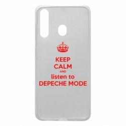 Чехол для Samsung A60 KEEP CALM and LISTEN to DEPECHE MODE