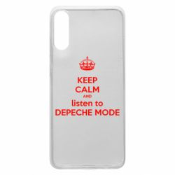 Чехол для Samsung A70 KEEP CALM and LISTEN to DEPECHE MODE