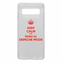 Чохол для Samsung S10 KEEP CALM and LISTEN to DEPECHE MODE