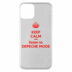 Чехол для iPhone 11 KEEP CALM and LISTEN to DEPECHE MODE