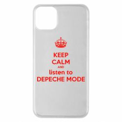 Чехол для iPhone 11 Pro Max KEEP CALM and LISTEN to DEPECHE MODE