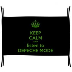Флаг KEEP CALM and LISTEN to DEPECHE MODE