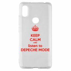 Чехол для Xiaomi Redmi S2 KEEP CALM and LISTEN to DEPECHE MODE