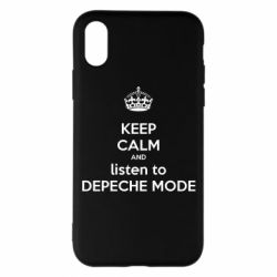 Чехол для iPhone X/Xs KEEP CALM and LISTEN to DEPECHE MODE