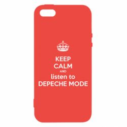 Чехол для iPhone5/5S/SE KEEP CALM and LISTEN to DEPECHE MODE