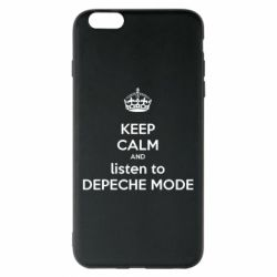 Чехол для iPhone 6 Plus/6S Plus KEEP CALM and LISTEN to DEPECHE MODE